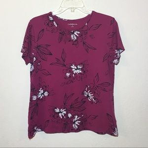Croft and Barrow Floral T-shirt